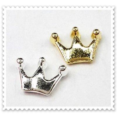 画像1: 王冠パーツ (ゴールド・シルバー)