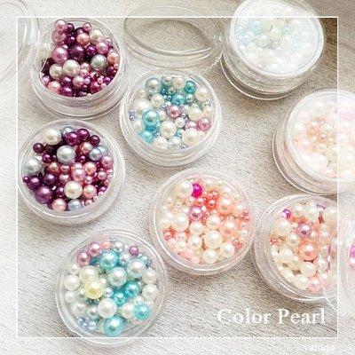 画像2: Color Pearl ケース入り 無穴カラーパール
