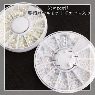 画像2: New pearl! 半円パール 6サイズケース入り